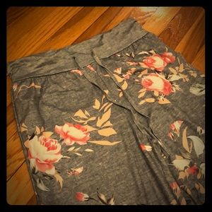 Other - Women's Floral Flare Lounge Pants (XL)